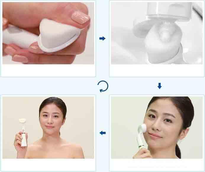 Review máy rửa mặt cầm tay Pobling Habalan
