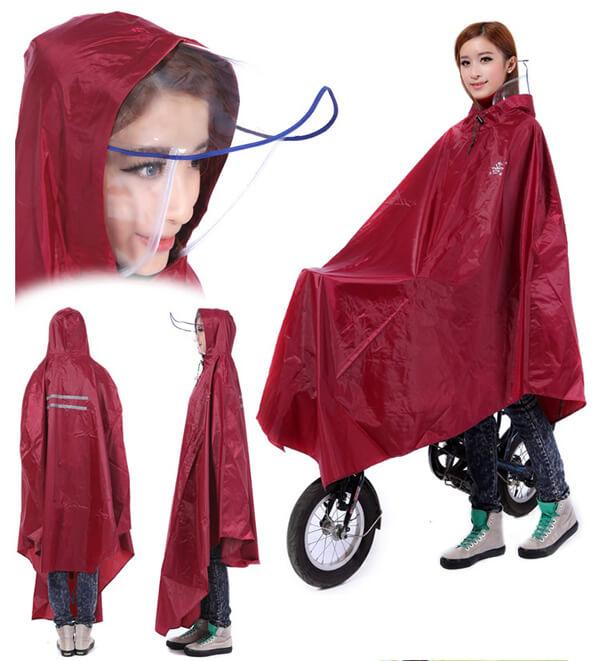 Áo mưa cao cấp có kính chắn mưa sỉ