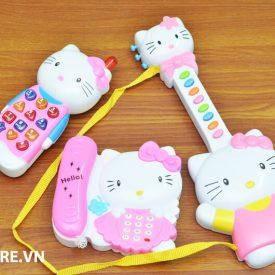Bộ đàn và điện thoại Hello Kitty cho bé giá rẻ