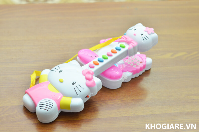 Bộ đàn và điện thoại Hello Kitty cho bé