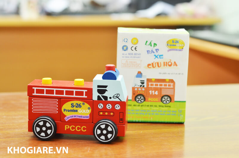 Lắp Ráp Xe Cứu Hỏa WinWin Toys