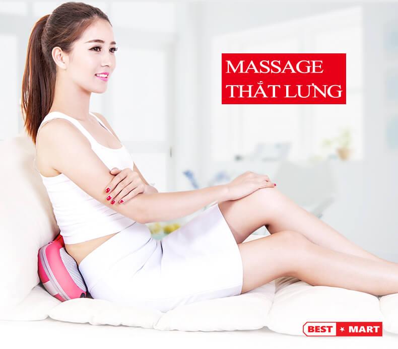 gối massage hồng ngoại giá rẻ