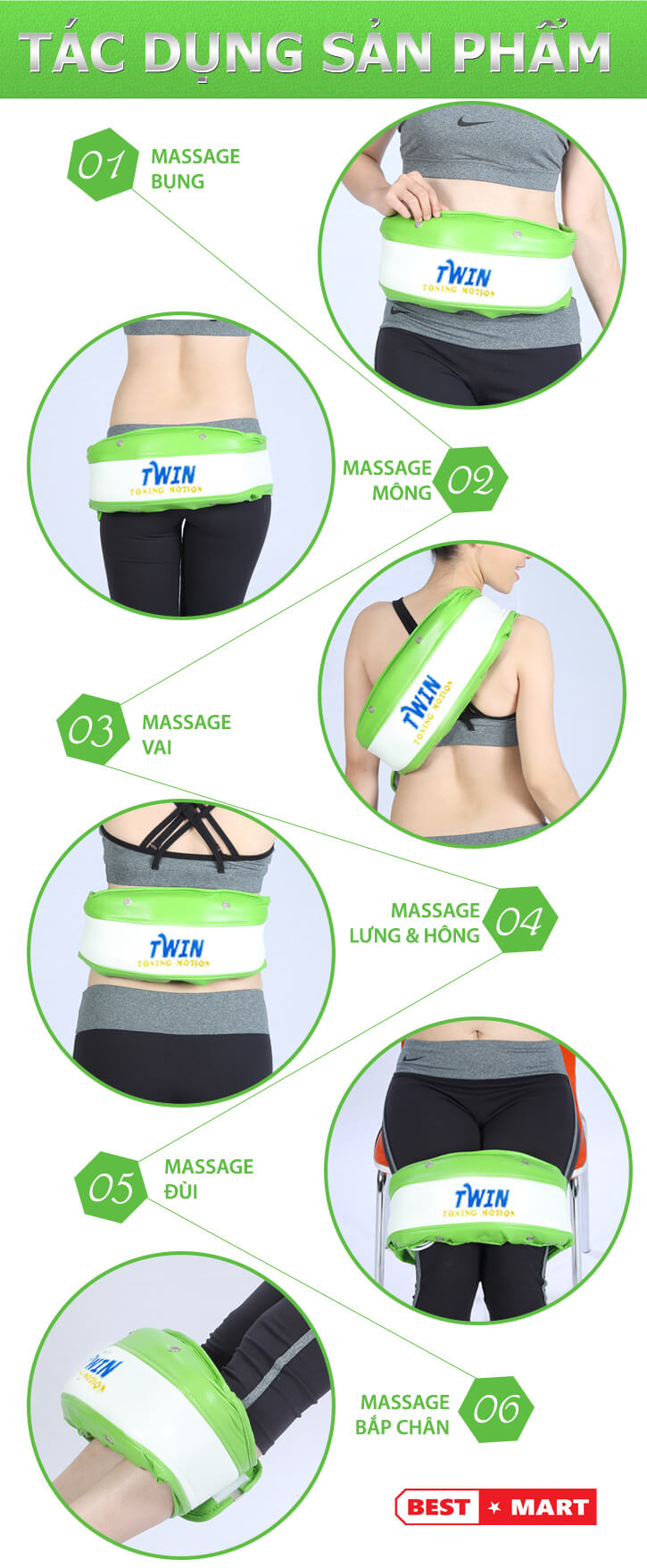 đai massage giảm cân twin