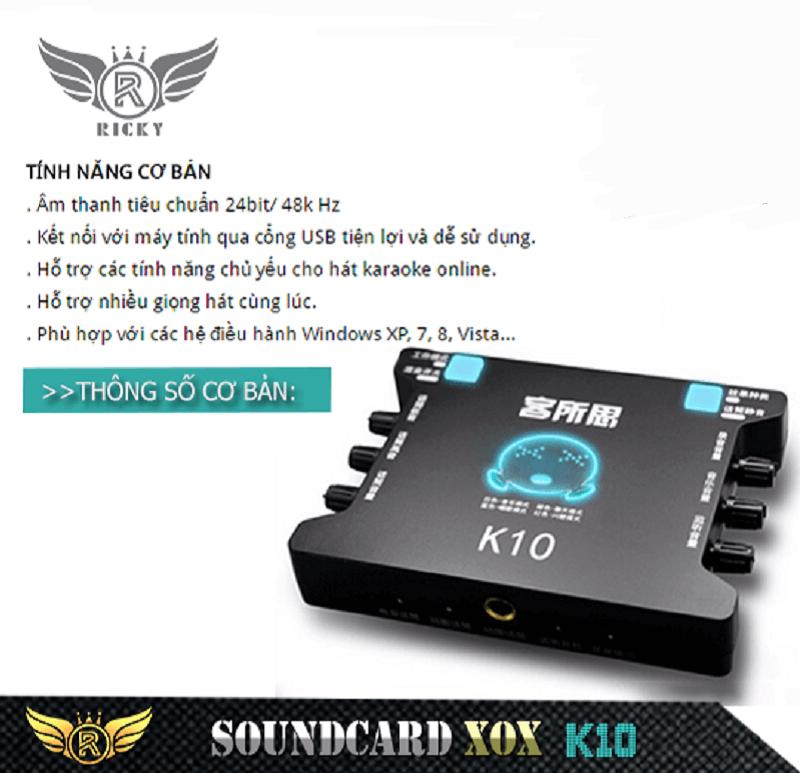 sound card xox k10 giá rẻ