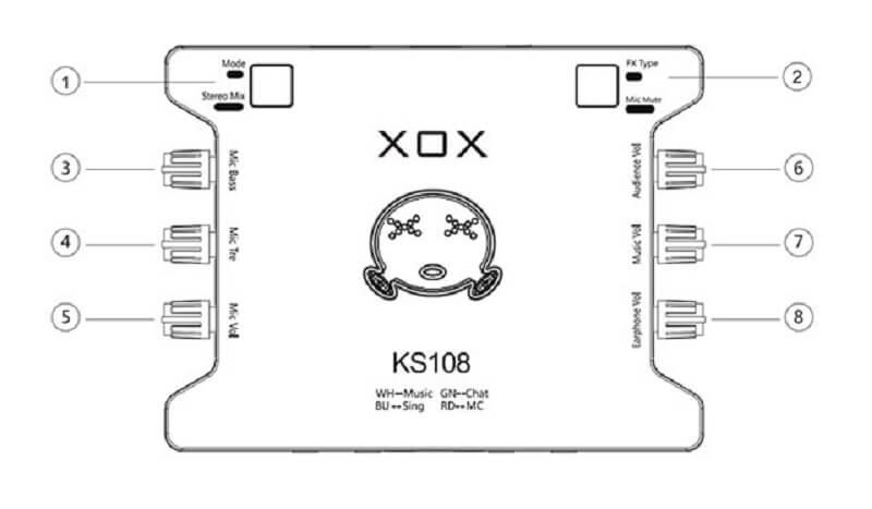 sound card xox k10 hát karaoke cao cấp
