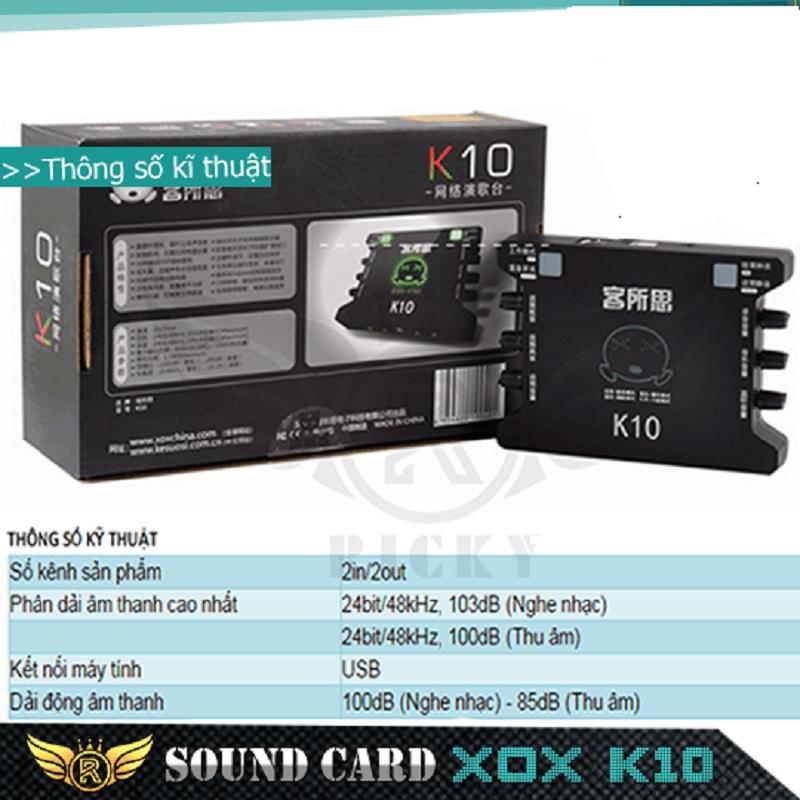 sound card xox k10 hát karaoke giá rẻ